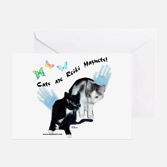 Cats Are Reiki Magnets Greeting Card