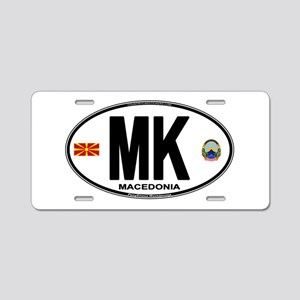 mk-oval Aluminum License Plate