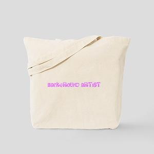 Background Artist Pink Flower Design Tote Bag