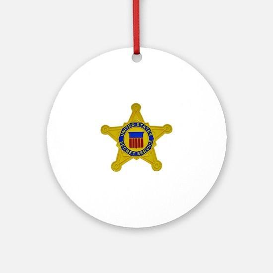US FEDERAL AGENCY - SECRET SERVICE Round Ornament