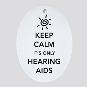 It's Only Hearing Aids Oval Ornament