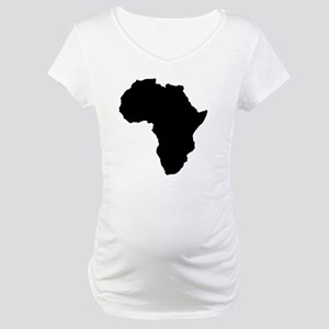 Shape map of AFRICA Maternity T-Shirt