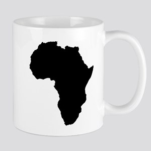 Shape map of AFRICA Mugs