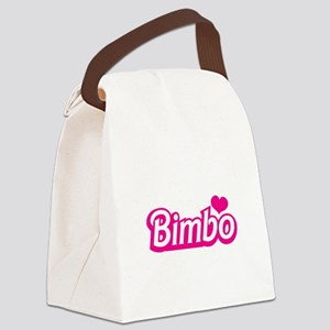Bimbo with a love heart Canvas Lunch Bag
