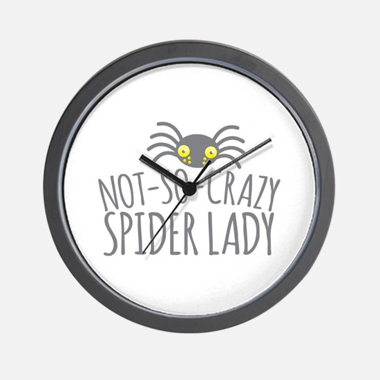 Not-So-Crazy Spider lady Wall Clock