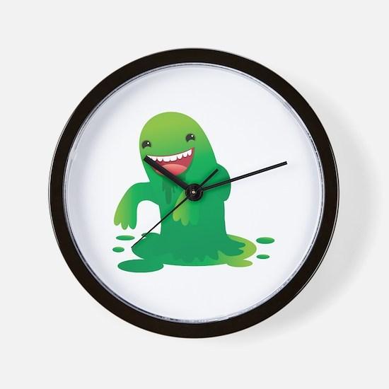 Green boogie monster Wall Clock
