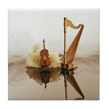 Cello & Harp Tile Coaster