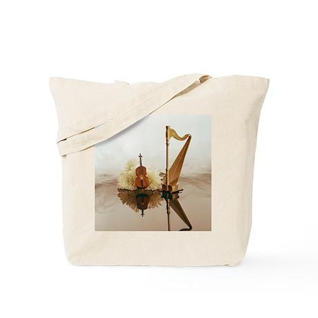 Cello & Harp Tote Bag