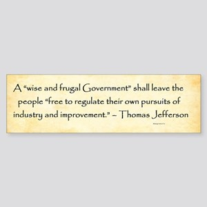 Thomas Jefferson - Regulation - Bumper Sticker