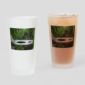 Long White Bridge Drinking Glass
