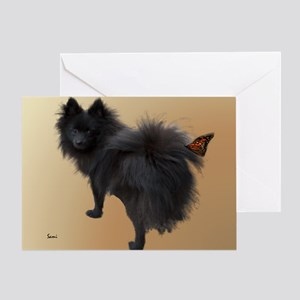 Black Pomeranian Greeting Card