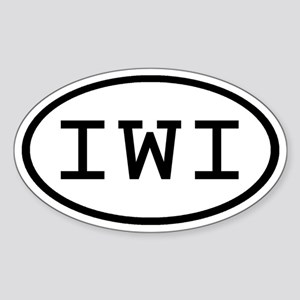 IWI Oval Oval Sticker