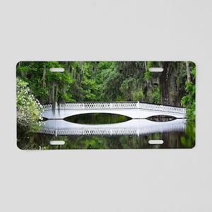 Long White Bridge Aluminum License Plate