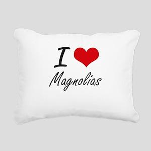 I Love Magnolias Rectangular Canvas Pillow
