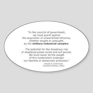 Ike's Warning Oval Sticker
