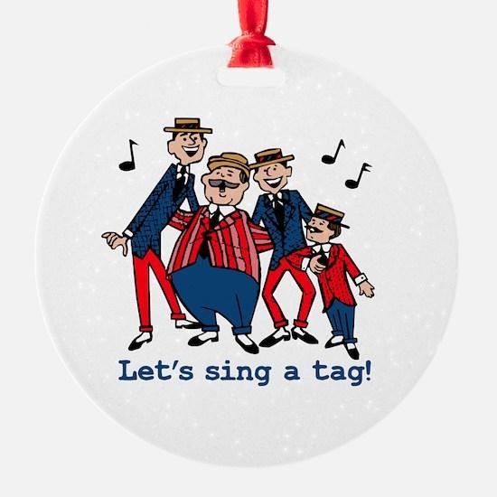 Sing a Tag Ornament