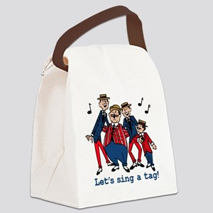 Sing a Tag Canvas Lunch Bag