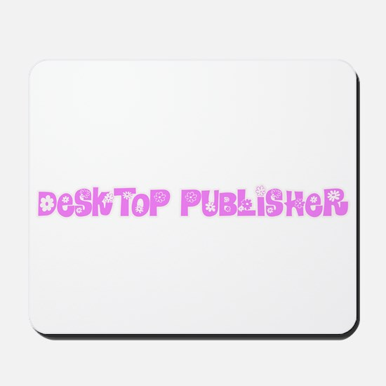 Desktop Publisher Pink Flower Design Mousepad