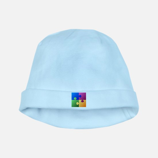 Colorful Puzzle baby hat