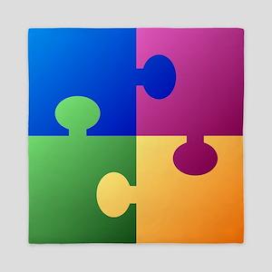 Colorful Puzzle Queen Duvet