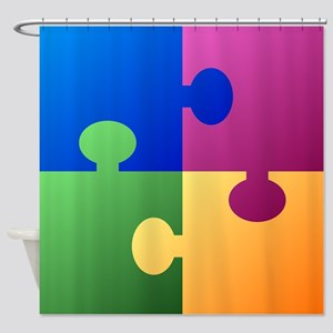 Colorful Puzzle Shower Curtain