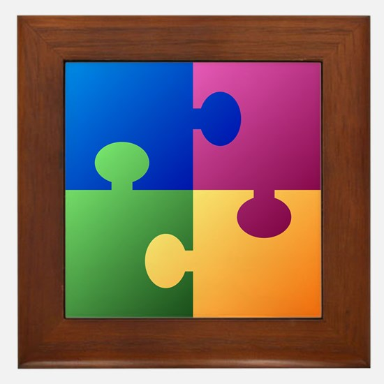 Colorful Puzzle Framed Tile