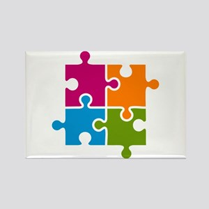 Puzzle Autism Awareness Magnets