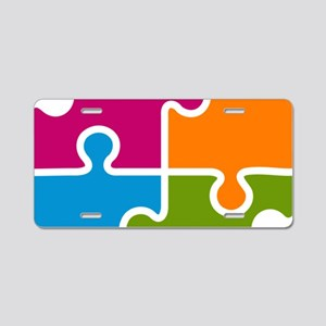 Puzzle Autism Awareness Aluminum License Plate