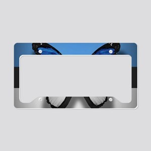 Abstract Butterfly License Plate Holder