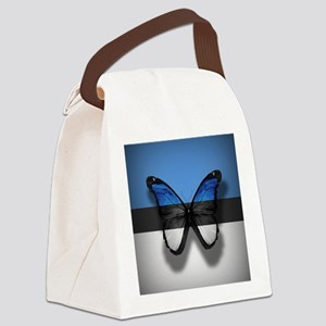 Abstract Butterfly Canvas Lunch Bag