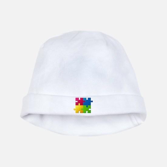 Autism Awareness Puzzle baby hat