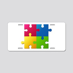 Autism Awareness Puzzle Aluminum License Plate