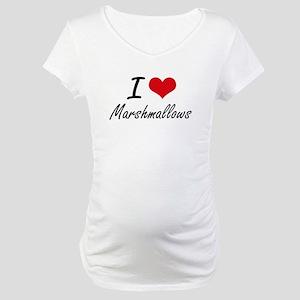 I Love Marshmallows Maternity T-Shirt