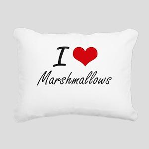 I Love Marshmallows Rectangular Canvas Pillow