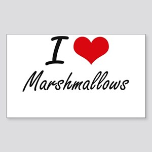 I Love Marshmallows Sticker