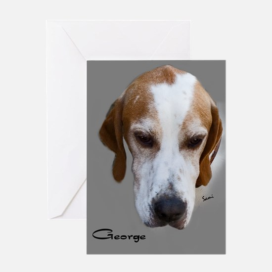 George the English Pointer Greeting Card