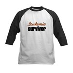 Leukemia Survivor Kids Baseball Jersey