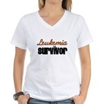 Leukemia Survivor Women's V-Neck T-Shirt