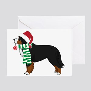 christmas bernese mt dog greeting cards - Dog Greeting Cards