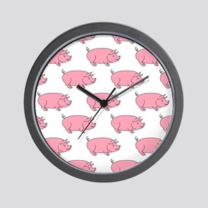 Field of Pigs Wall Clock