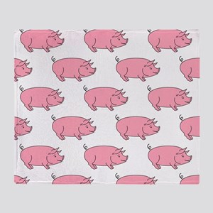Field of Pigs Throw Blanket