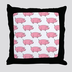 Field of Pigs Throw Pillow