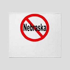 nebraska Throw Blanket
