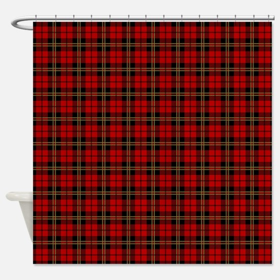 Brodie Red Scottish Tartan Shower Curtain