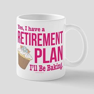 Baking Retirement Plan Mugs