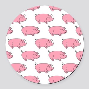 Field of Pigs Round Car Magnet