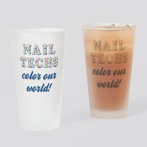 NAIL TECHS Drinking Glass