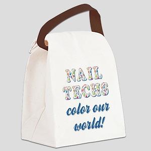NAIL TECHS Canvas Lunch Bag