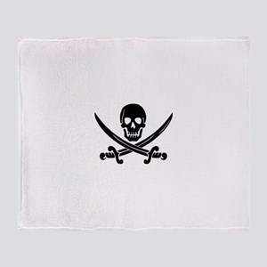 Jolly Roger Pirate Throw Blanket