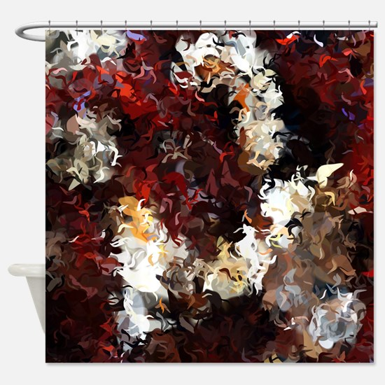 Jasmine and Columbine Abstract Shower Curtain